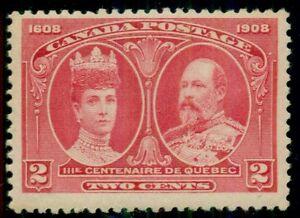 CANADA #98 2¢ carmine, og, NH, VF, Scott $100.00
