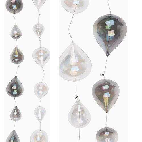 6 Suspension Verre Babiole boules Tear Drop Support Mariage Jardin Décor Maison 60 cm nouveau