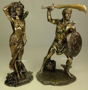 ORISHA-OGGUN-OSHUN-God-Goddess-Yoruba-African-Statue-Sculpture-9-5-034-Bronze-color