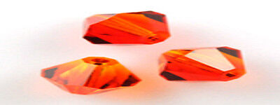12 X Swarovski Crystal Beads # 5301 Fire Opal 6MM