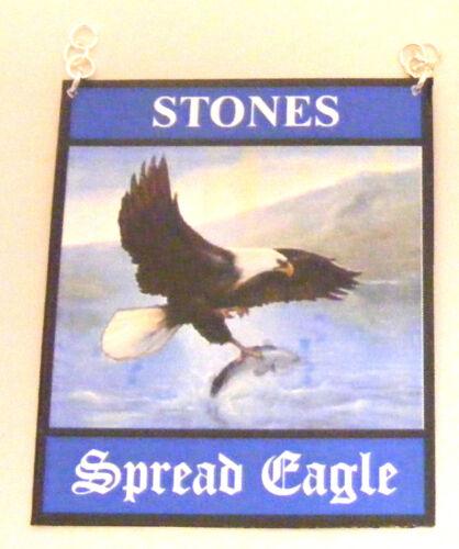 1:12 scala la diffusione Eagle PUB segno DOLLS HOUSE miniatura BAR-Locanda Accessorio