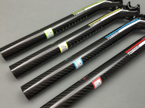 Full Carbon fiber MTB Road Bike saddle Seat post Seatpost 27.2//30.8//31.6*350//400