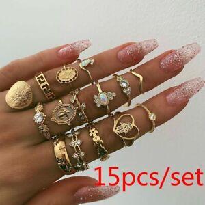 Bohemian gold jewelry set for women.