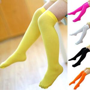 d75913be283c4 CO_ Kids Toddler Girls Solid Over Knee Socks Tights Leg Warmer High ...
