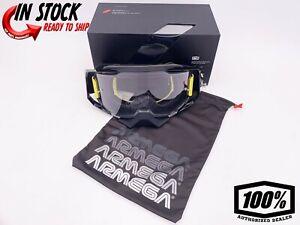 100/% MX Motocross Ultra HD Lens for ARMEGA Goggles Dark Smoke
