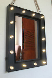 14 Bulb Led Light Up Wall Mirror Make Up Mirror Girls Room