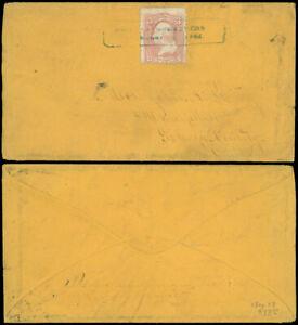 1864-CIVIL-WAR-BOXED-CHATTANOOGA-TENN-PMK-Cover-amp-Letter-Camp-105th-O-Vols