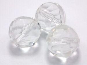 3x-Glasschliffperlen-18mm-Crystal-Klar-Kristall-Facettierte-Glasperlen-R116