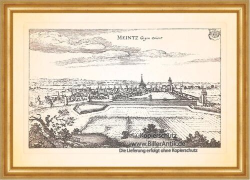 Meintz gegen Orient Mainz Dom Staatstheater Fastnachtsbrunnen Merian 0088