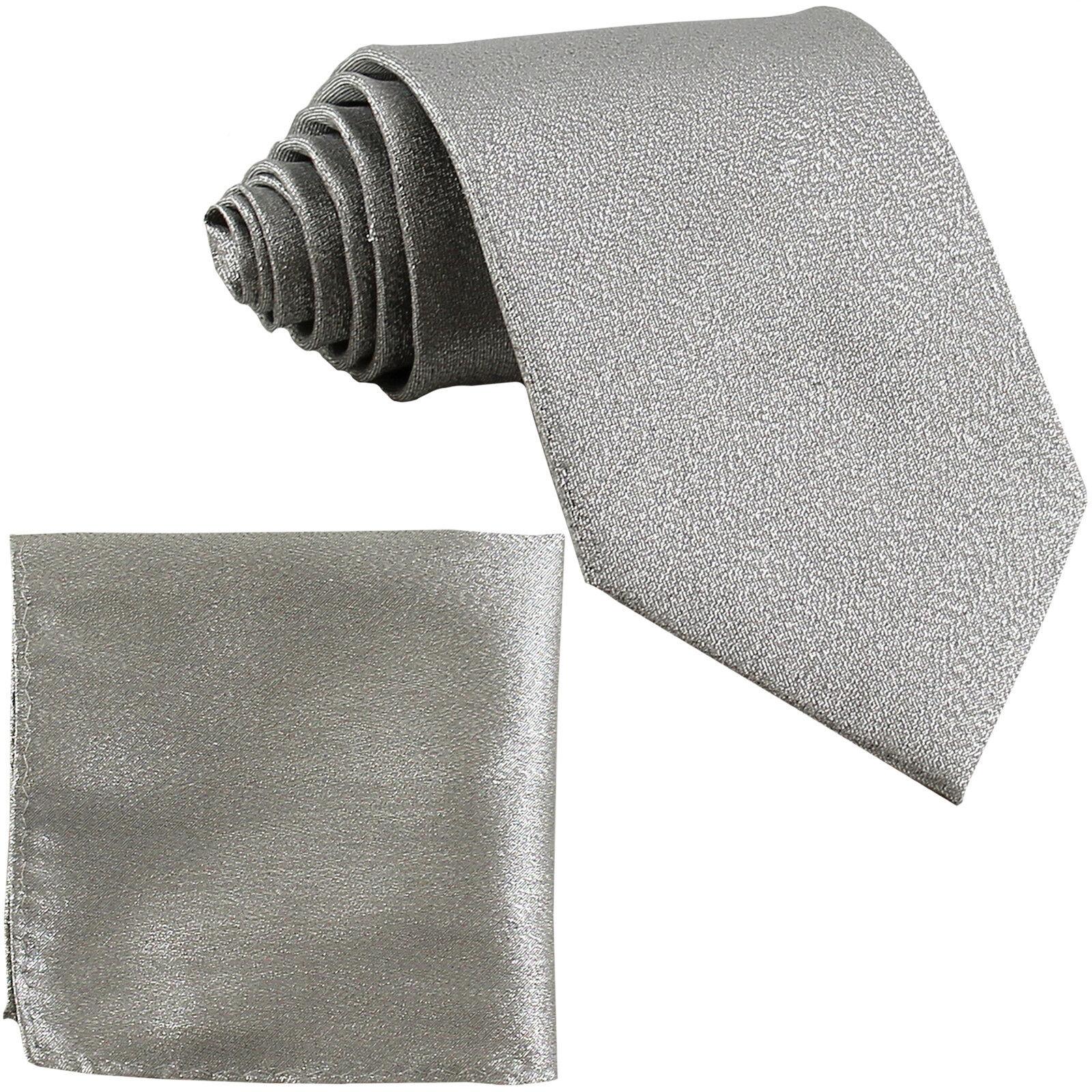 New Polyester Men/'s Neck Tie /& Pocket Square Hankie Set Shiny Finish red