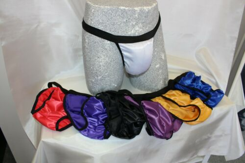 S to 4XL 7 Colours NEW Poly Satin Mens Tanga Brief