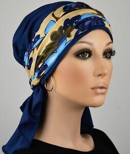 Qualität neuer Stil & Luxus Qualitätsprodukte Details zu KOPFTUCH MÜTZE CHEMO TUCH + BAND Bandana Kopfbedeckung  Chemomütze SET Linda NEU