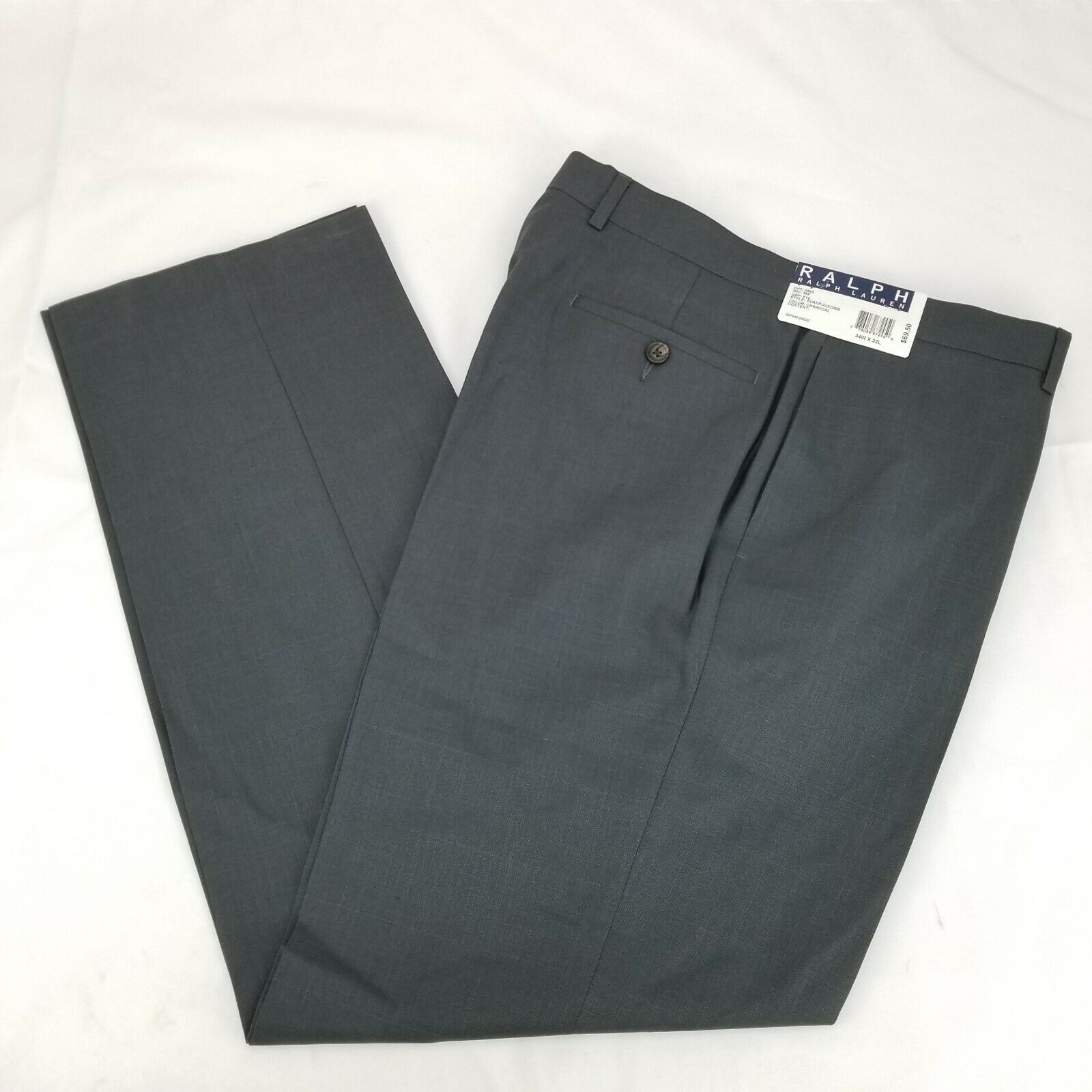 Ralph Lauren Charcoal Mens Dress Pants 36x32 Style Evanpuuxd208 NWTs retail