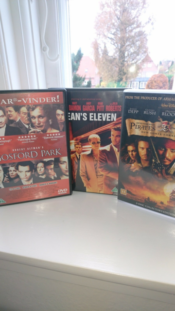Gosford Park, Ocean's 11, Pirates of the C., DVD, andet,…