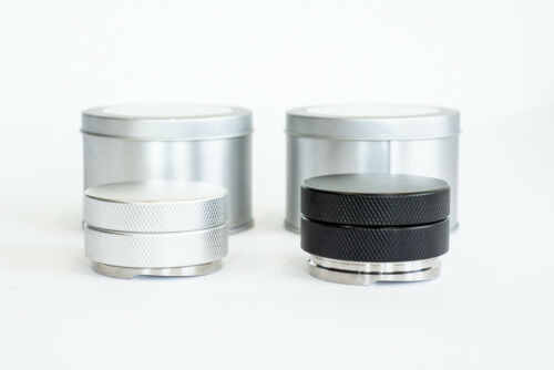 58 mm Coffee Distributor Twin Pack Black /& Silver Gift Set