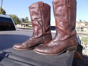 Vintage-Distressed-SEARS-Brown-Western-Cowboy-Boots-Men-039-s-sz-8-D
