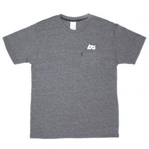 6de921932c Details about RIPNDIP - Lord Nermal | Mens Pocket T-Shirt | Heather Gray