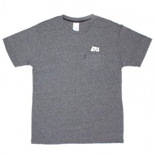 RIPNDIP Lord NermalMens Pocket T-ShirtHeather Gray