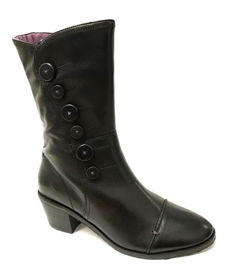 Moshulu liebre de marzo para para para mujeres Damas De Cuero Biker Combate Cremallera Media Caña botas Zapato  muchas sorpresas