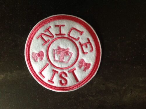 Christmas Naughty//nice North Pole Delivery Patch//appliqué