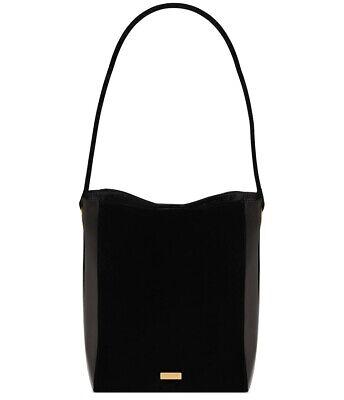 CAROLINA HERRERA Good Girl black patent velvet tote bag purse handbag NEW