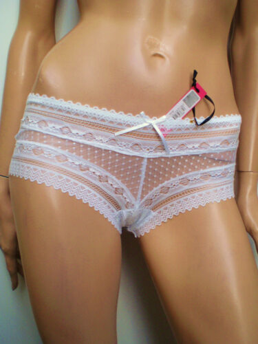 Danielle Axel Quality White Lace//Pink//Cream Embroidered Briefs