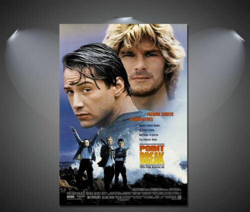 Point break Keanu Reeves classic vintage movie toile impression artistique-A0 A1 A2 A3 A4
