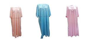 Ladies-Short-Sleeve-Nightdress-Nighties-Nighty-Cotton-Rich-Plus-Size-Big-3XL-6XL