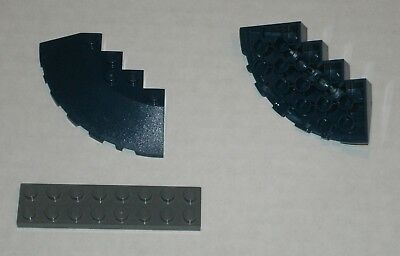 6170124 Brick 95188 2x LEGO NEW 6x6 Dark Blue Brick Round Corner
