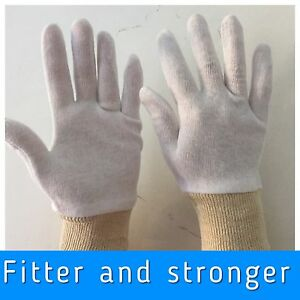 size M  UNDER BOXING COTTON WHITE INNERS GLOVES SWEAT LINER HAND PROTECTOR