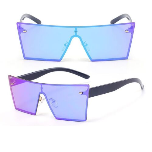 Shield Bar Retro VINTAGE Rimless Cat Eye Square Fashion Men Women Sunglasses
