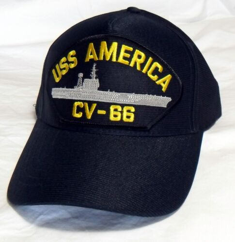 USS AMERICA CV-66 US NAVY SHIP HAT OFFICIALLY LICENSED BALL CAP MADE IN USA