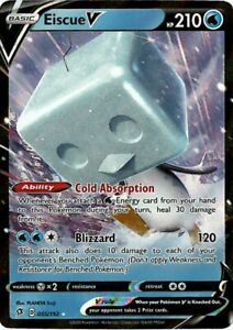 Pokemon TCG SS Rebel Clash 055//192 Eiscue V Holographic Rare Card