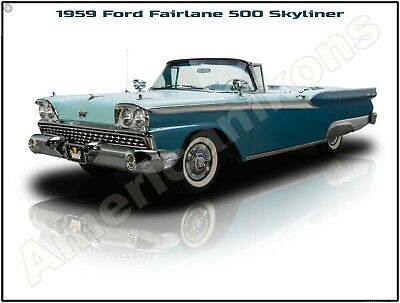 1955 Ford Fairlane Crown Victoria New Metal Sign Pristine Restoration!