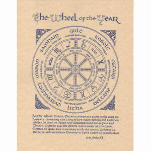 Pagan Calendar.Details About Wheel Of The Year Poster 8 5 X 11 Parchment Print New Wicca Pagan Calendar Page