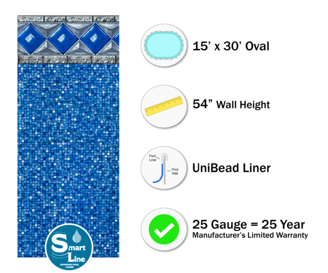 Various Sizes Swimming Pool Liner for Above Ground Pools~Tidal Surge UniBead