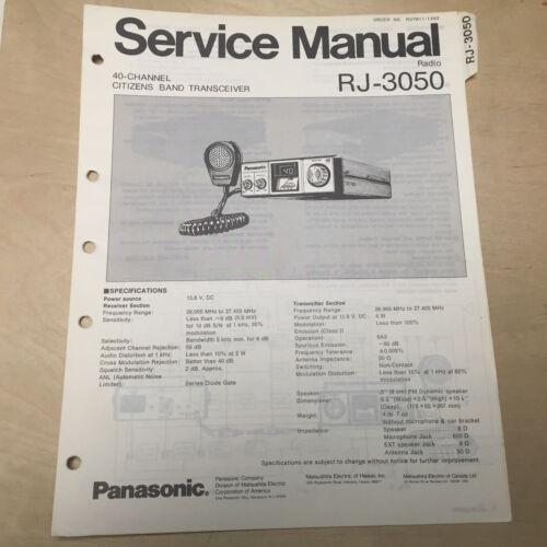 Original Panasonic Service Manual for RJ CB Radio Transceiers ~ Select One