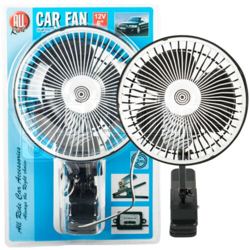 6 Inch 12v Clip On Oscillating Car Van Fan Metal Dashboard Cooling Air Con 2m