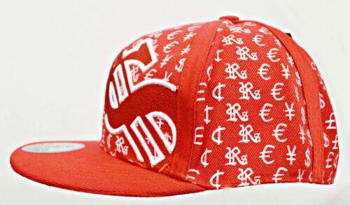 Snapback dollars Football Snap Back Capuchon Basecap Flat Cap rouge size L #3