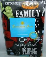 Summertime Fun Vinyl Tablecloth Family Cookout/good Times 52x 90 Seats 6-8