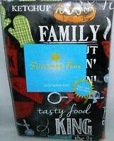 Summertime Fun Vinyl Tablecloth Family Cookout/good Times 52x 90 Seats 6-8