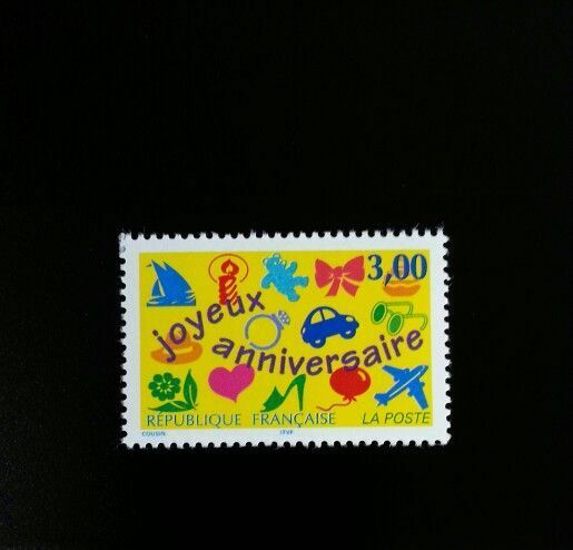 1997 France Happy Birthday Scott 2556 Mint F/VF NH