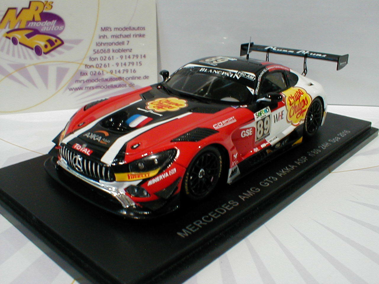 Spark sp142 Mercedes-Benz AMG  gt3 No. 89 24h Spa 2016 Perfetti, Lyons 1 43  meilleure mode