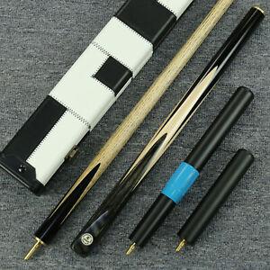 60-034-034-Grand-034-3-4-Jointed-Ash-Shaft-Black-Ebony-Handmade-Snooker-Cue-Set-YP60