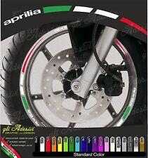 Kit Adesivi Cerchi Moto Ruote APRILIA Tricolore ruote 13 pollici