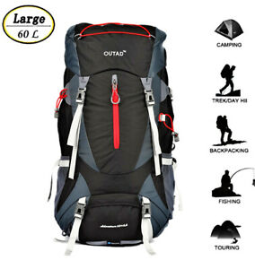 OUTAD-60-5L-Outdoor-Water-Resistant-Sport-Backpack-Hiking-Camping-Travel-Bag-US