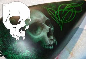 Airbrush-Schablone-Totenkopf-Schaedel-A5-Skull-Stencil