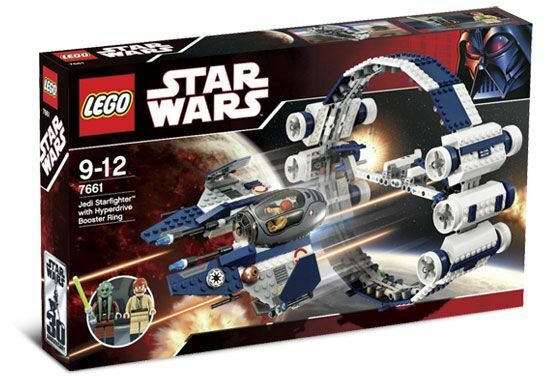 BRAND NEW Lego Jedi Starfighter With Hyperdrive Booster Ring 7661