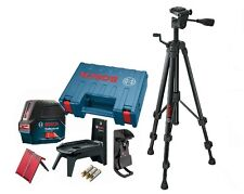 Bosch GCL 2-160 self-leveling cross-line laser with plumb points and BT150 Tripo