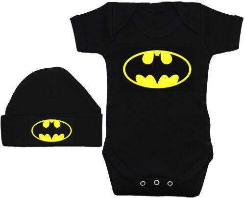 Batman Baby Grow Bodysuit//Romper//T-Shirt /& Feeding Bib Newborn-24M Boys,Girls